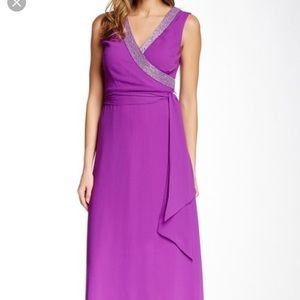 NWT Belle by Badgley Mischka purple formal gown, 6